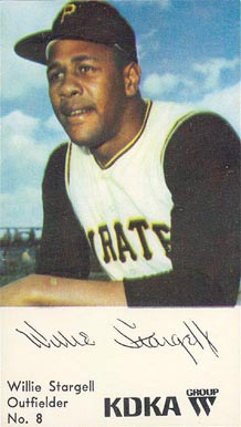 1968 KDKA Willie Stargell #8 Baseball Card