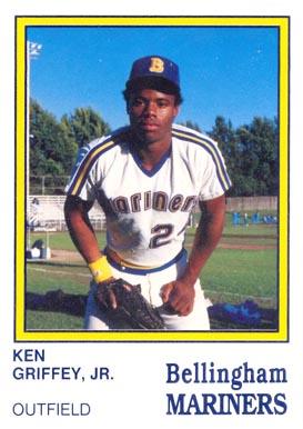 1987 Bellingham Mariners Ken Griffey Jr. #15 Baseball Card