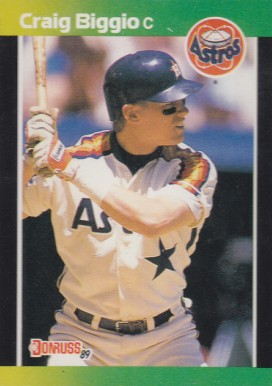 1989 Donruss Baseball's Best Craig Biggio #176 Baseball Card