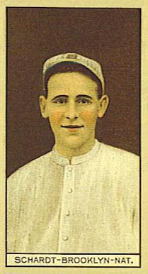 1912 Brown Backgrounds (Common back) SCHARDT-BROOKLYN-NAT. #162 Baseball Card