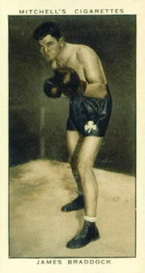 1936 Mitchell's Cigarettes James Braddock #27 Boxing & Other Card