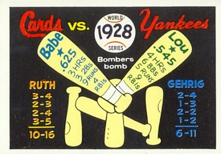 1970 Fleer World Series Babe Ruth #25 Baseball Card