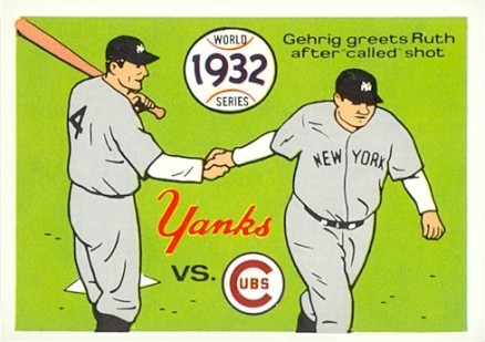 1970 Fleer World Series 1932 Yankees vs. Cubs #29 Baseball Card