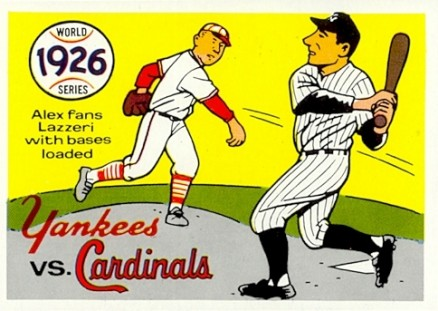 1970 Fleer World Series 1926 Cardinals vs Yankees #23 Baseball Card