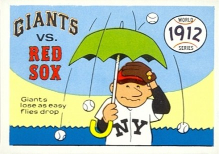 1970 Fleer World Series 1912 Red Sox vs. Giants #9 Baseball Card