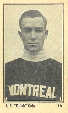 1924 Maple Crispette Dutch Cain #16 Hockey Card