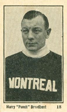 1924 Maple Crispette Punch Broadbent #18 Hockey Card