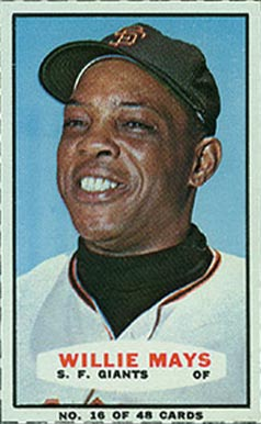 1966 Bazooka Singles Willie Mays #16 Baseball Card