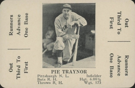 1936 S & S Game Pie Traynor #46 Baseball Card
