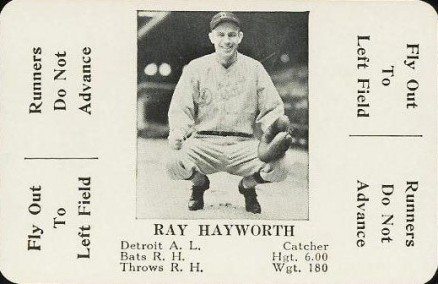 1936 S & S Game Ray Hayworth #31 Baseball Card