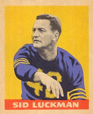 1949 Leaf Sid Luckman #15 Football Card