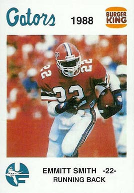 1988 Florida Burger King Emmitt Smith #2 Football Card