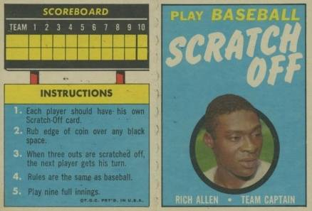 1970 Topps Scratch-Offs Rich Allen #2 Baseball Card