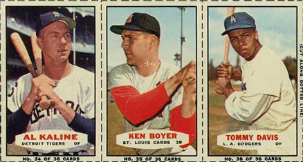 1964 Bazooka Panel Kaline/Boyer/Davis #12 Baseball Card