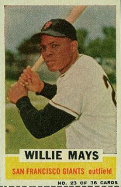 1961 Bazooka Singles Willie Mays #23 Baseball Card