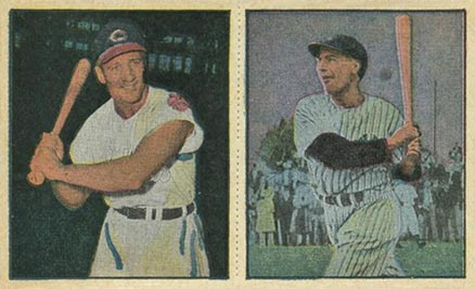 1951 Berk Ross Panel Rosen/Rizutto #1-1/1-3 Baseball Card