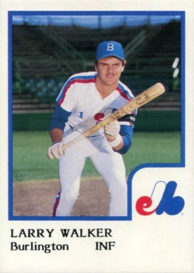 ROOKIE 1990 FLEER # 363 LARRY WALKER