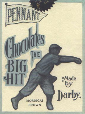 1910 Darby Chocolates Mordecai Brown #6 Baseball Card
