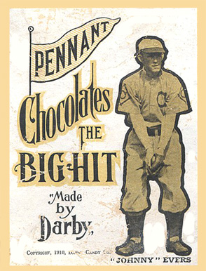 1910 Darby Chocolates Johnny Evers #18 Baseball Card
