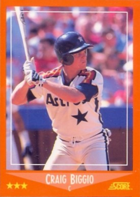 1988 Score Rookie Traded Glossy Craig Biggio #103T Baseball Card