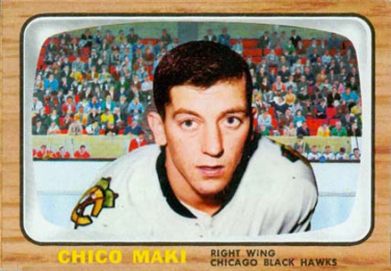1966 Topps USA Test Chico Maki #53 Hockey Card