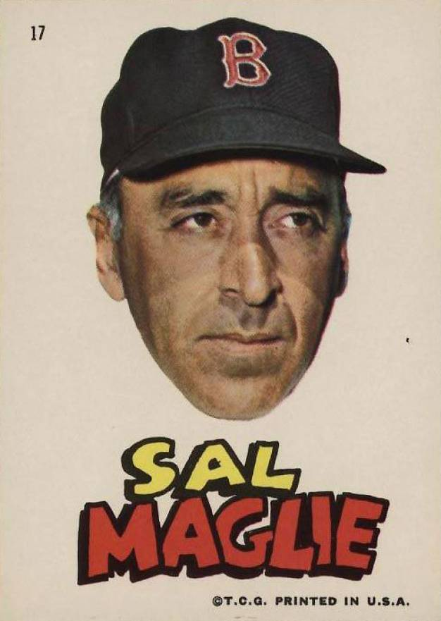1967 Topps Red Sox Stickers Sal Maglie #17 Baseball Card