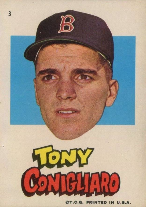 1967 Topps Red Sox Stickers Tony Conigliaro #3 Baseball Card