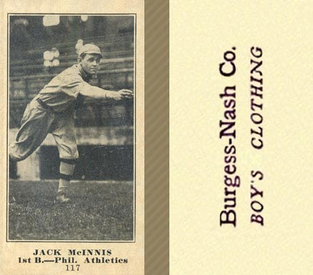 1916 Burgess-Nash Jack McInnis #117 Baseball Card