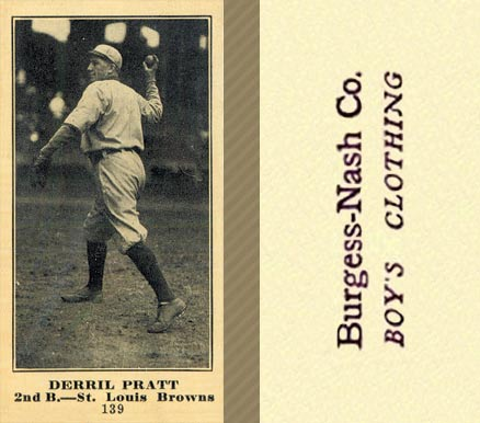 1916 Burgess-Nash Derril Pratt #139 Baseball Card