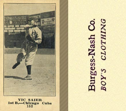 1916 Burgess-Nash Vic Saier #152 Baseball Card