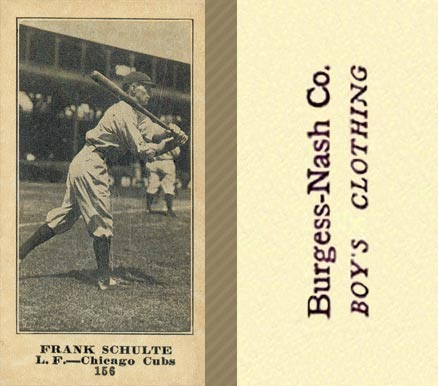 1916 Burgess-Nash Frank Schulte #156 Baseball Card