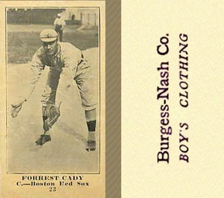 1916 Burgess-Nash Forrest Cady #25 Baseball Card