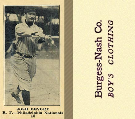 1916 Burgess-Nash Josh Devore #46 Baseball Card