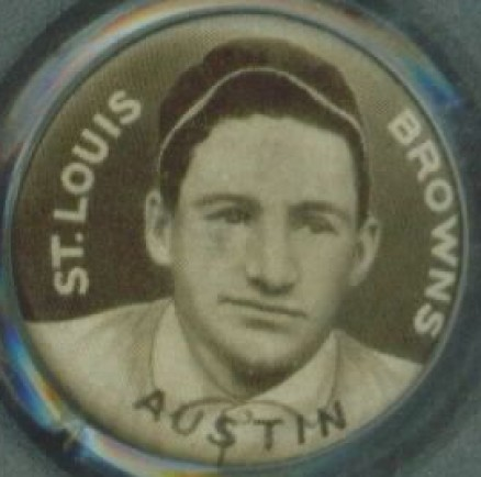 1910 Sweet Caporal Pin Jimmy Austin #4A Baseball Card