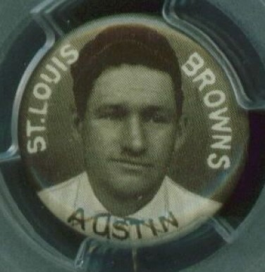 1910-12 Sweet Caporal Pins Jimmy Austin #4L Baseball Card
