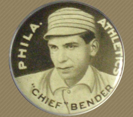 1910 Sweet Caporal Pin Chief Bender #13A Baseball Card