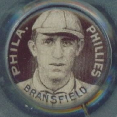 1910-12 Sweet Caporal Pins Kitty Bransfield #17 Baseball Card