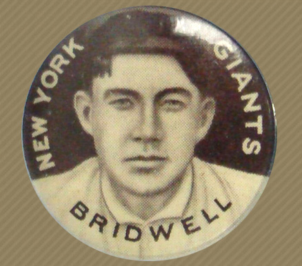 1910-12 Sweet Caporal Pins Al Bridwell #20 Baseball Card