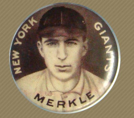 1910 Sweet Caporal Pins Fred Merkle #102 Baseball Card