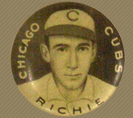 1910 Sweet Caporal Pin Lew Richie #124 Baseball Card