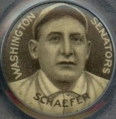 1910-12 Sweet Caporal Pins Germany Schaefer #128 Baseball Card