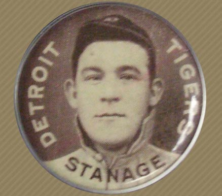 1910 Sweet Caporal Pin Oscar Stanage #134 Baseball Card