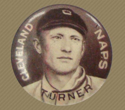 1910 Sweet Caporal Pin Terry Turner #143 Baseball Card