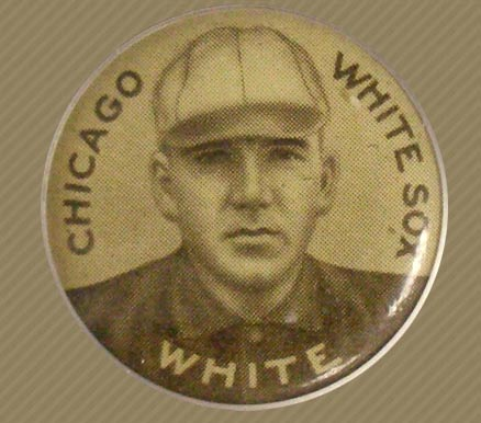 1910 Sweet Caporal Pin Doc White #150 Baseball Card