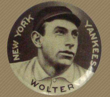 1910 Sweet Caporal Pin Harry Wolter #154 Baseball Card