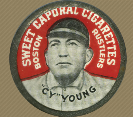 1909 Sweet Caporal Domino Discs Cy Young #129 Baseball Card