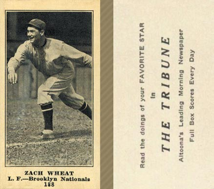 1916 Tribune Zach Wheat #188 Baseball Card