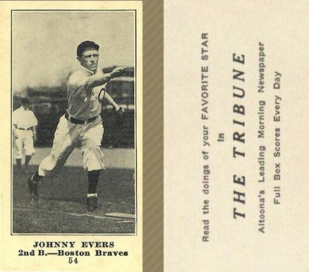 1916 Tribune Johnny Evers #54 Baseball Card
