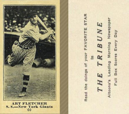 1916 Tribune Art Fletcher #60 Baseball Card