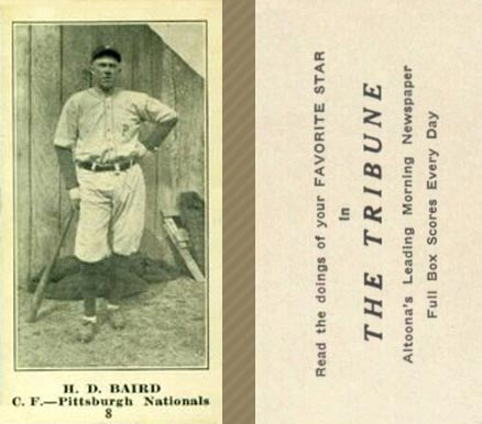 1916 Tribune Albert Baird #8 Baseball Card